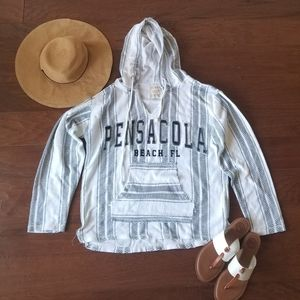 Beach By Exist Pensacola Striped Hoodie Pullover